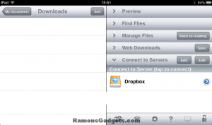 Add Dropbox to GoodReader