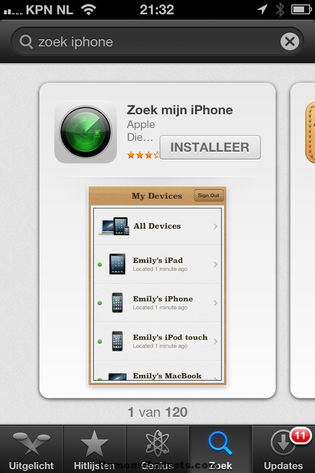 Find my iphone zoek mijn iphone for Picture search app for iphone