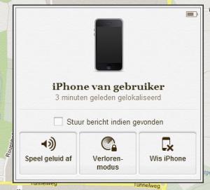 Zoek mijn iPhone - Stuur bericht
