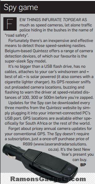 mr Handsfree Spy artikel in TopGear