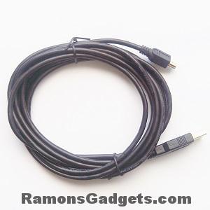Mini USB kabel - 3 meter lang