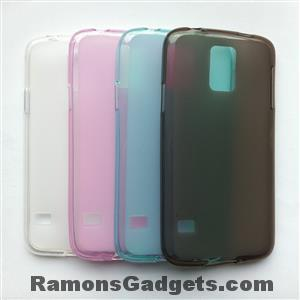Samsung Galaxy S5 Silicone Case - Zwart - Blauw - Roze - Transparant-wit