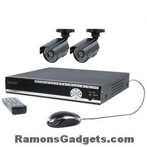 Konig-Beveiligings-camera-set-2cameras-met-hd-recorder
