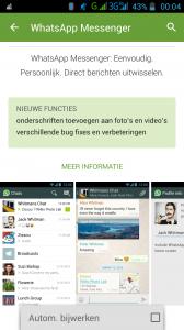 Blauwe Vinkjes Whatsapp uitschakkelen android -automatisch bijwerken vinkje