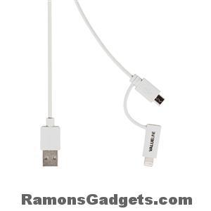 Lightning - Micro USB - USB sync - data - laad kabel - 1 meter - iPhone 5 en iPhone 6