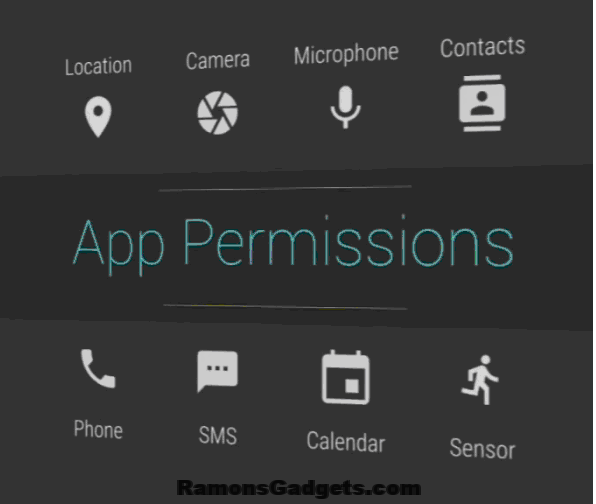 how to change permissions in android apps