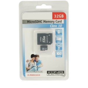 MicroSDHC 32GB - König - Geheugenkaartje - telefoon - tablet
