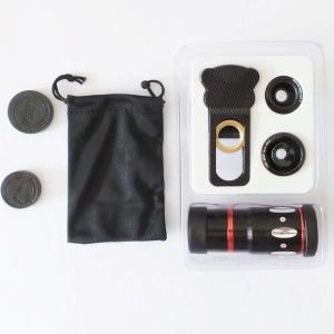 Zoomlens-5 Macro - breedhoek - fisheye 10x zoom voor smartphone