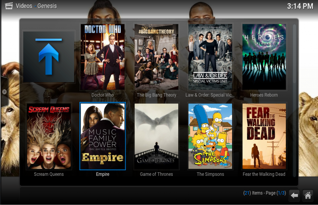 Genesis Kodi addon - gratis films kijken
