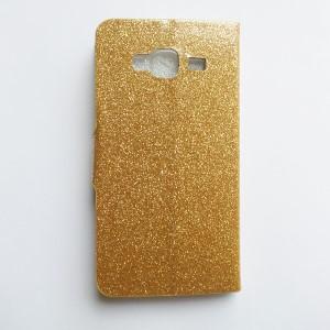 Flipcase met steun Samsung Galaxy J5 - Bling Bling goud