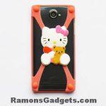 Universele Bumper Case - Silicone - Rubber - hoesje Hello Kitty