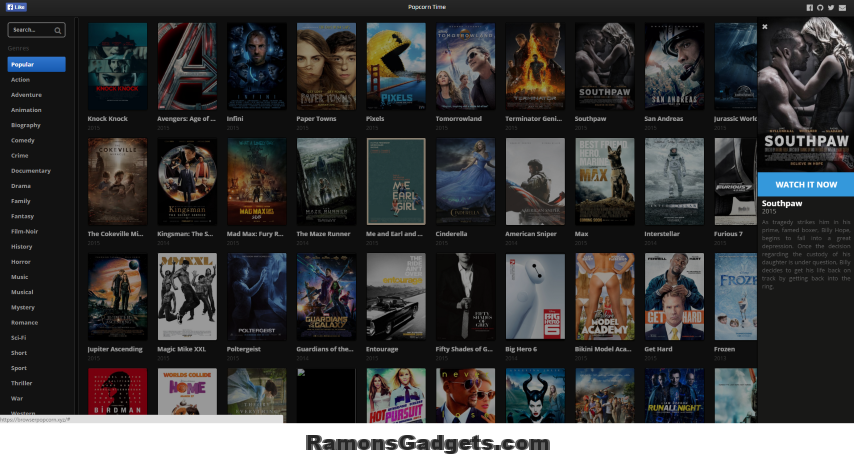browserpopcorn.xyz films streamen in je browser popcorntime