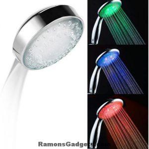 3 kleuren LED Douchekop