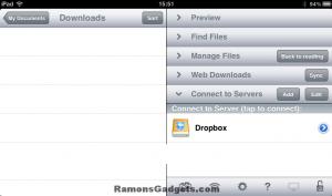 Add Dropbox to GoodReader