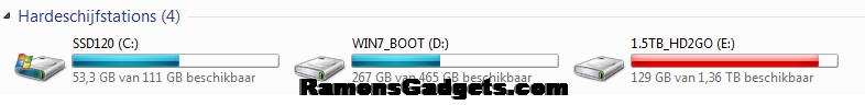 FolderSize-Schijfruimte