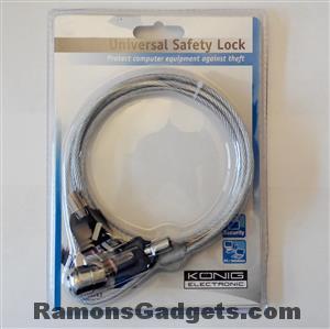 Laptop Slot - Staal kabel