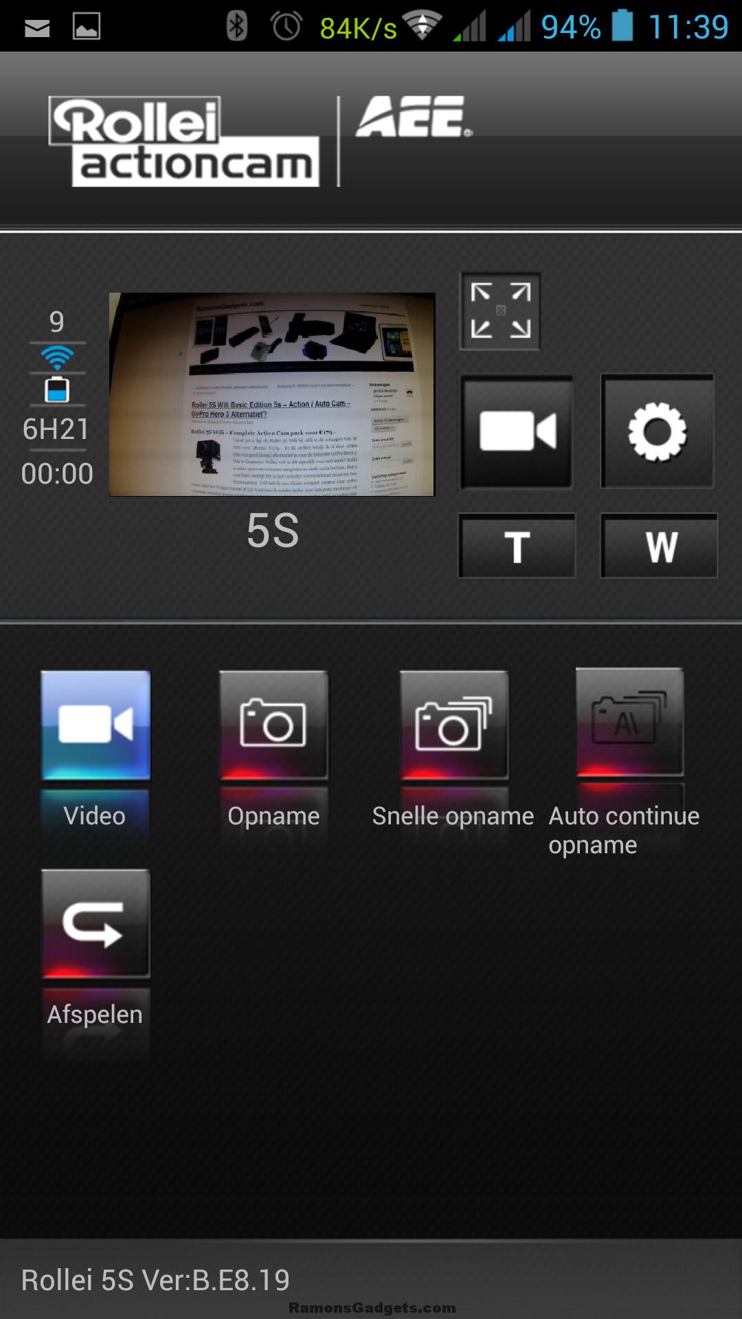Screenshot Rollei 5S-S60 Wifi App