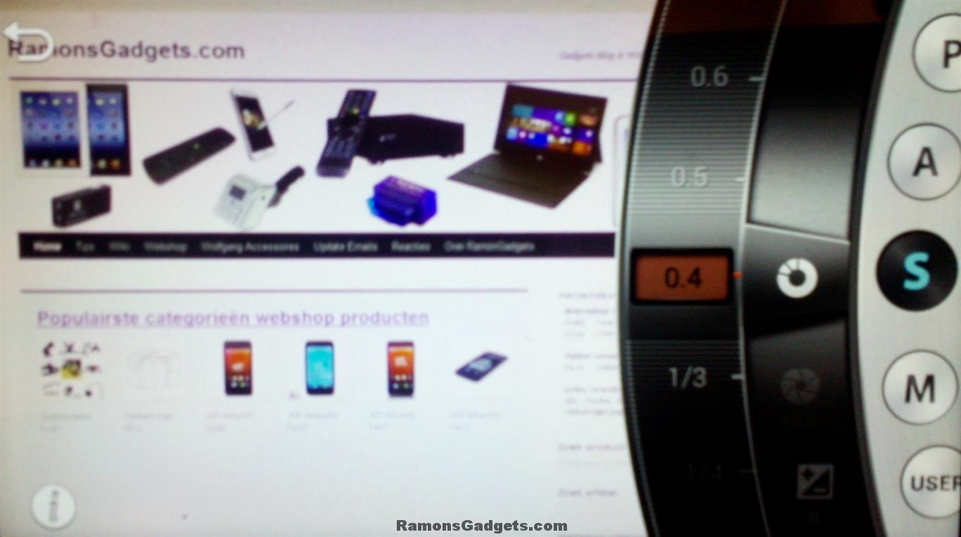 Screenshot Bediening Galaxy Camera GC200