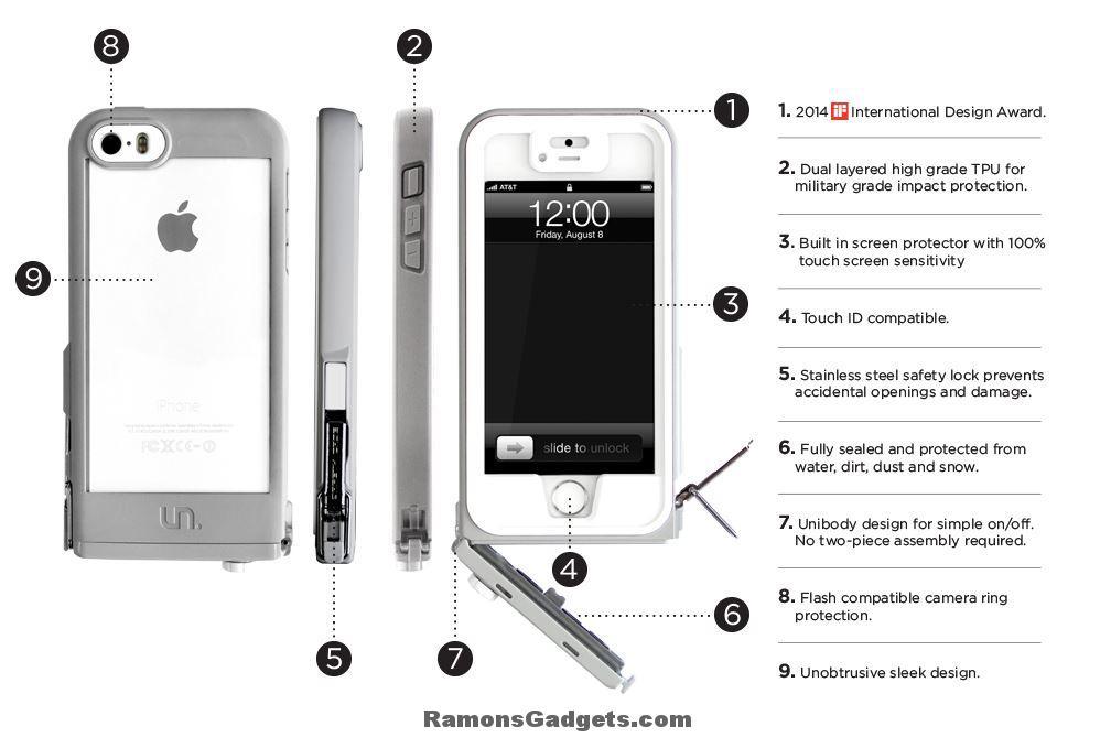 iphone 5s Uncommon Safety Case (lifeproof alternatief) waterproof waterdicht touch id