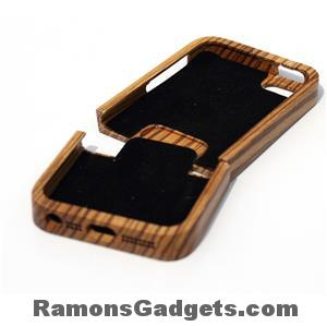 Woodiful - iphone 5 5s wood - hout - zebra case