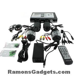 Konig-Beveiligings-camera-set-2cameras-met-hd-recorder