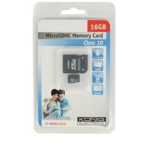 MicroSDHC 16GB - König - Geheugenkaartje - telefoon - tablet