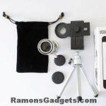 Zoomlens-3 12x optische zoom voor smartphone met tripod telefoonhouder