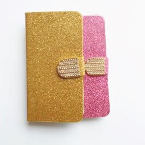 Flipcase met steun Samsung Galaxy J5 - Bling Bling roze goud