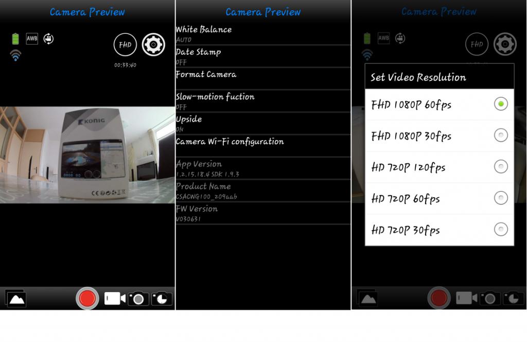 Konig Action Cam 2 App